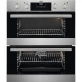 Aeg DUB331110M built under double oven Multifunction Undercounter Double Oven, Stainless Fascia, Retractable Rotary Control