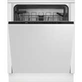 Beko DIN15C20 14 Place Integrated Dishwasher - Stainless Steel