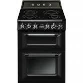 Smeg TR62IBL 60cm Victoria Induction Freestanding Double Oven Cooker