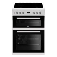 Beko EDC633W 60cm Double Oven Electric Cooker