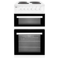 Beko EDP503W 50Cm White Double Oven Electric Cooker