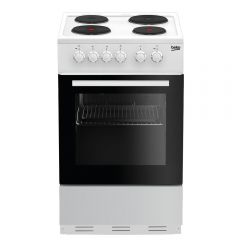 Beko ESP50W 50Cm Single Solid Hotplate Cooker