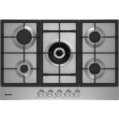 Blomberg GMB83512 75cm 5 burner Gas Hob with cast iron pan supports
