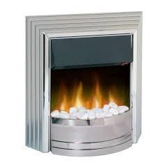 Dimplex CST20 Castillo Optiflame Electric Fire With Real Coal/White Pebble