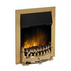 Dimplex STM20BR LED Brass Stamford Optiflame® inset electric Fire