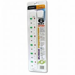 Extension Cable Surge Protected 6 Way Switched