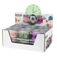 Hama 00176946 Clock In A Can with various choice of design