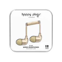 Happy Plugs 7832 Earphones With Mic And Remote Champagne