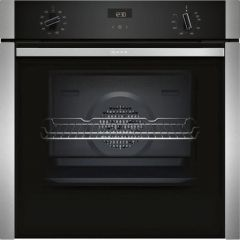 Neff B3ACE4HN0B Slide + Hide Built In Electric Single Oven