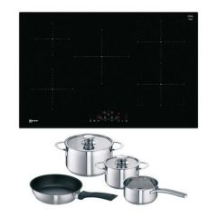 Neff T48FD23X2KIT Induction Hob with Induction Pan Set
