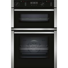 Neff U2ACM7HN0B Double Built In Pyrolytic clean Electric Oven