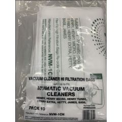 Numatic NUMBAG2000 NVM-1CH 10 Pk  Henry Vacuum Cleaner Bags