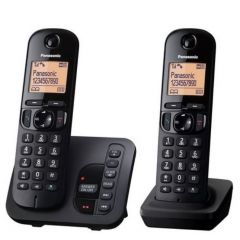 Panasonic KXTGC222EB 2 Handset Digital Cordless Answering Machine