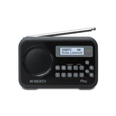 Roberts PLAYBK Black DAB / FM Radio With Built-In Battery Charger