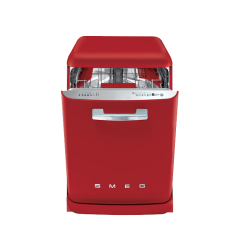 Smeg DF6FABRD 60cm 50s Style Red Freestanding Dishwasher with 13 place settings