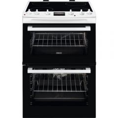 Zanussi ZCV66078WA Cooker, Double Oven Electric