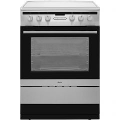 Amica 608CE2TAXX 60Cm Single Door Ceramic Top Electric Cooker