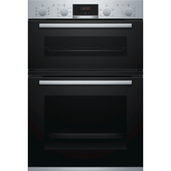 Bosch MBS533BS0B Built in electric double oven with 3D hot air