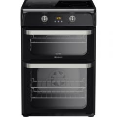 Hotpoint HUI614K 60Cm Fan Double Oven with Induction hob