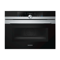 Siemens CM633GBS1B iQ700 Multifunction, 6 function combination oven and microwave