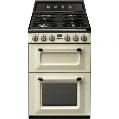 Smeg TR62P 60cm Cream Two Cavity Dual Fuel Traditional Victoria Style Cooker