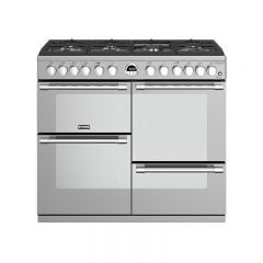 Stoves 444444942 Sterling DX S1000DF Stainless Steel 100cm Dual Fuel Range Cooker