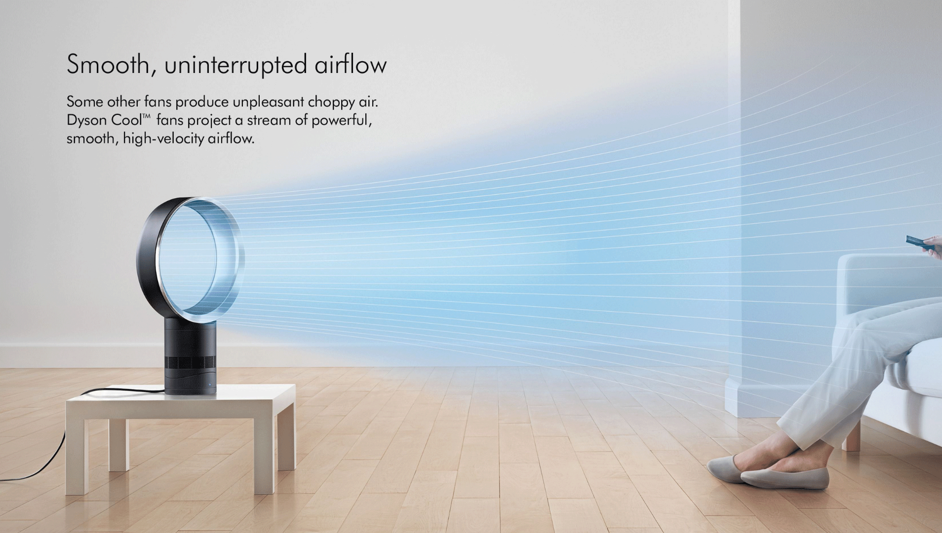 Dyson Am06 smooth uninterrupted airflow