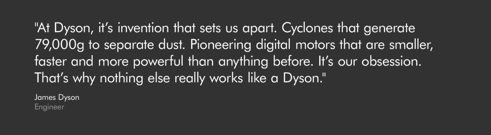 Words of James Dyson