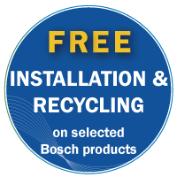 Bosch Free Install and Recycle